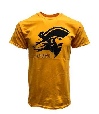 ETSU Giant Buccaneer Logo Tee GOLD