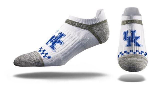 Kentucky Strideline Logo No Show Socks