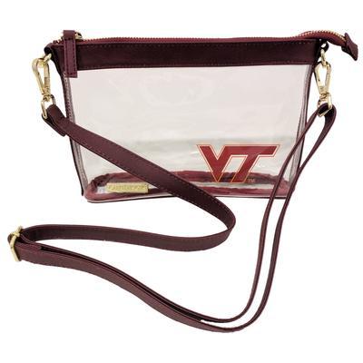 Virginia Tech Small Clear Crossbody Bag