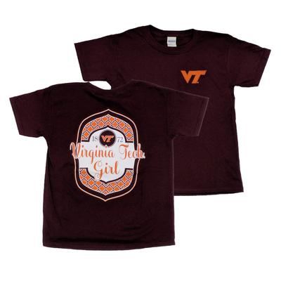 Virginia Tech Youth Framed Pattern T-Shirt