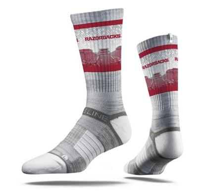 Arkansas Strideline Stadium Crew Socks