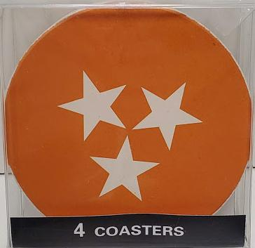 Tennessee Tri-Star Coaster Set 4 pack
