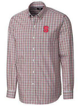 NC State Cutter and Buck Gilman Woven Button Down
