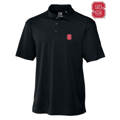NC State Cutter And Buck DryTec Genre Polo BLACK