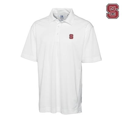 NC State Cutter And Buck DryTec Genre Polo WHITE