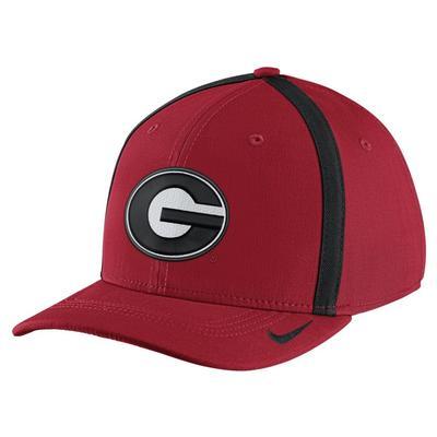 Georgia Nike Aerobill Sideline Flex Fit Hat