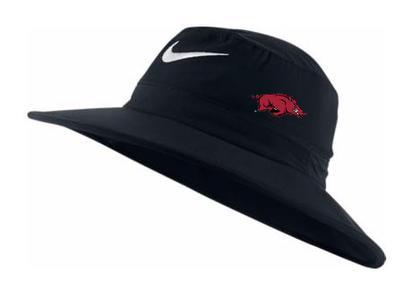 Arkansas Nike Golf Sun Bucket Hat BLACK
