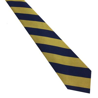 Navy and Gold Thick Striped Tie