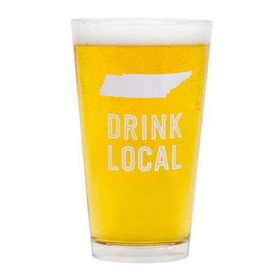Tennessee Drink Local Pint Glass