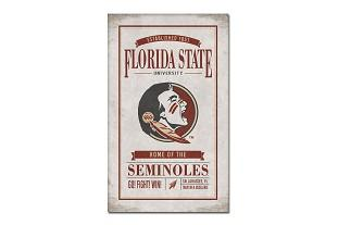 Florida State Legacy Vintage Poster Canvas