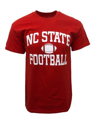 NC State Basic Football Tee RED