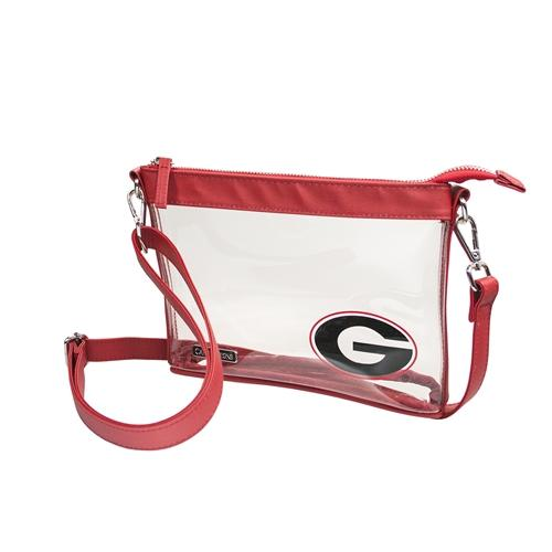 Georgia Game Day Clear Crossbody Bag