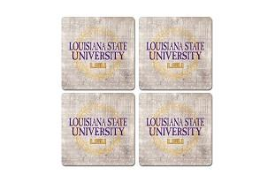 Lsu Legacy Laurels Coaster Set - 4 Pack