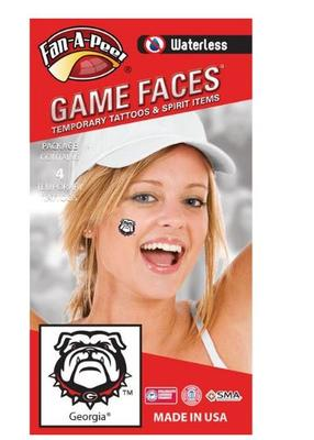 Georgia Bulldog face Tattoos