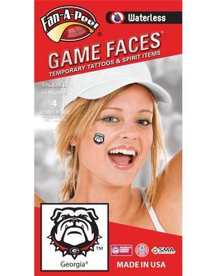 Georgia Bulldog face Tattoos