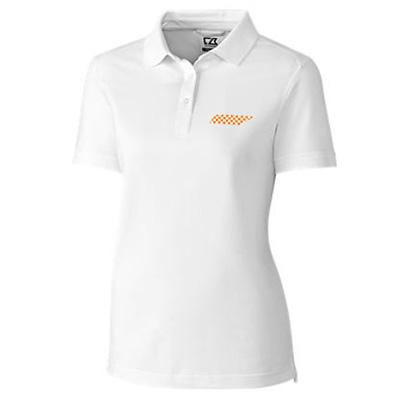 Tennessee Cutter and Buck Women's Advantage DryTec Polo WHITE