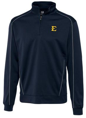 ETSU Cutter and Buck DryTec Edge Half Zip Pullover