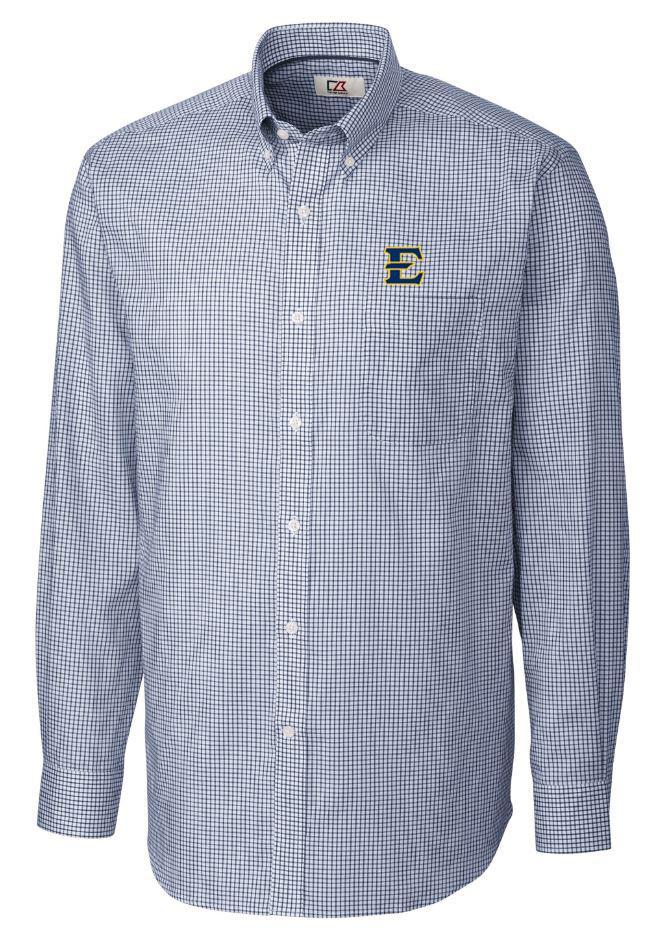 Etsu Cutter & Buck Tattersall Woven Dress Shirt