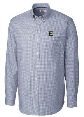 ETSU Cutter & Buck Tattersall Woven Dress Shirt