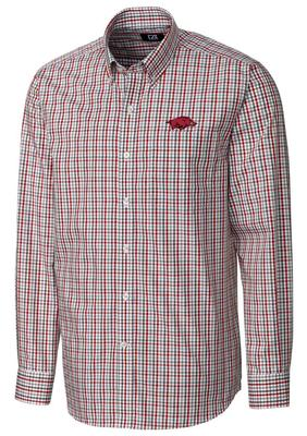 Arkansas Cutter And Buck Gilman Plaid Woven