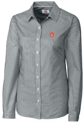 Auburn Cutter And Buck Easy Care Bengal Striped Shirt
