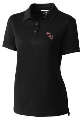 Florida State Cutter And Buck Women's Advantage DryTec Polo BLACK