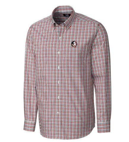 Florida State Cutter And Buck Gilman Plaid Woven