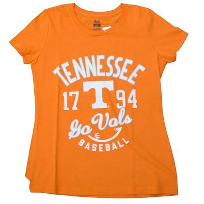 Tennessee Women's Slant Script Baseball Tee