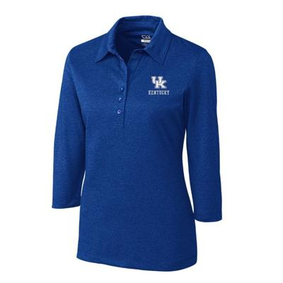 Kentucky Cutter And Buck Women's Drytec 3/4 Sleeve Chelan Polo