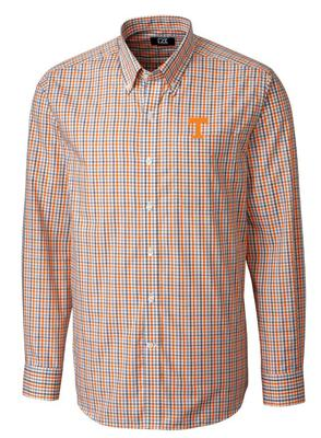 Tennessee Cutter And Buck Gilman Plaid Woven