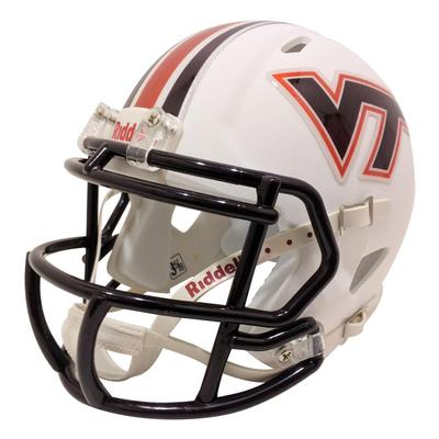 Virginia Tech Riddell White Mini Helmet