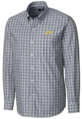 LSU Cutter And Buck Gilman Plaid Woven