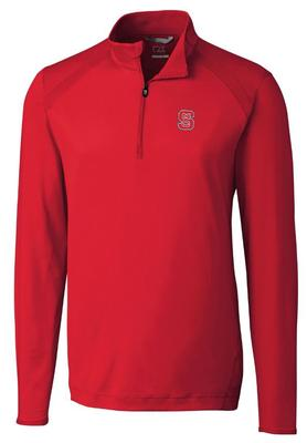 NC State Cutter And Buck Williams Half Zip Pullover RED