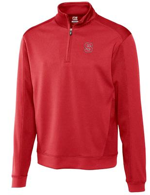 NC State Cutter And Buck DryTec Edge Half Zip Pullover