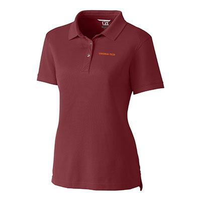 Virginia Tech Cutter And Buck Women's Advantage DryTec Polo