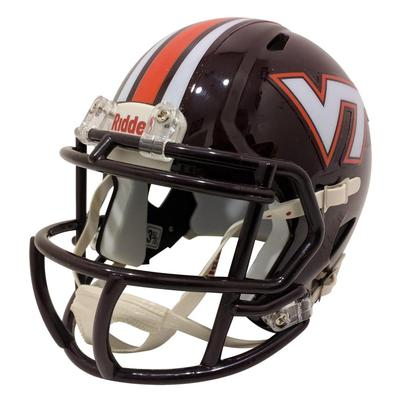 Virginia Tech Riddell Maroon Striped Mini Helmet