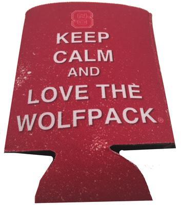 NC State Keep Calm Coozie
