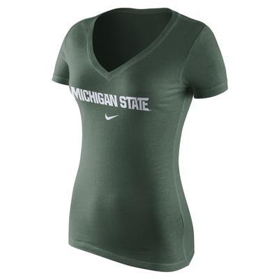 Michigan State Nike Women's Wordmark Tee