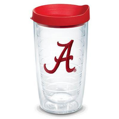 Alabama Tervis 16 oz Script A Red Lid Tumbler