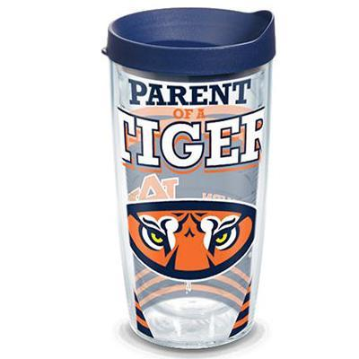 Auburn Tervis 16 Oz Parent Of A Tiger Tumbler