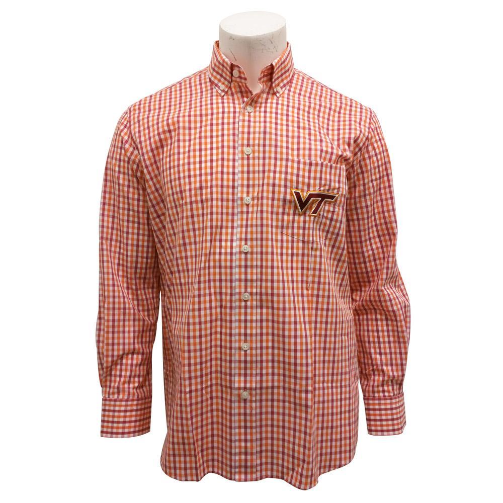 Virginia Tech Gingham Dress Shirt