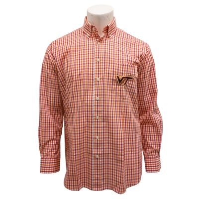 Virginia Tech Gingham Dress Shirt