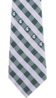 Michigan State Check Tie
