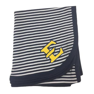 ETSU Infant Striped Knit Blanket