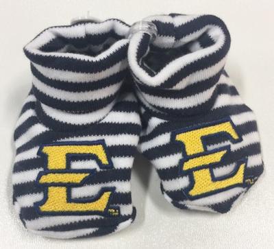 ETSU Infant Striped Booties