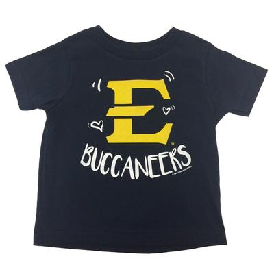 ETSU Toddler Where the Heart Is Tee