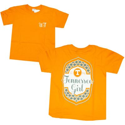 Tennessee Girls Framed Pattern Tee