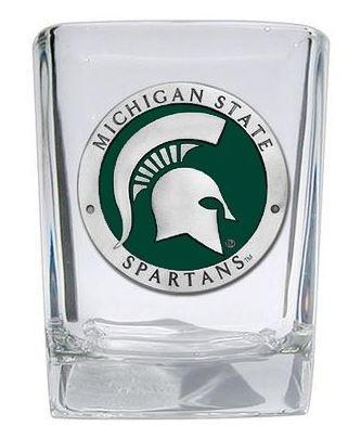 Michigan State Square Shot Glass