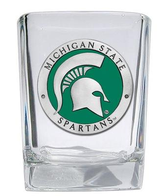 Michigan State Square Shot Glass