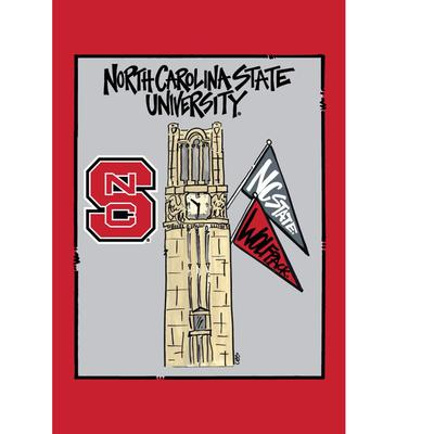 NC State Magnolia Bell Tower Garden Flag